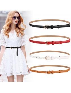 Skinny Leather belt womens stylish retro belt