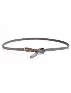 Classic retro D buckle ladies thin belt