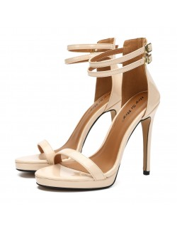 Off-white ankle strap high heel sandals