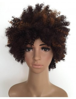 Synthetic curly wigs