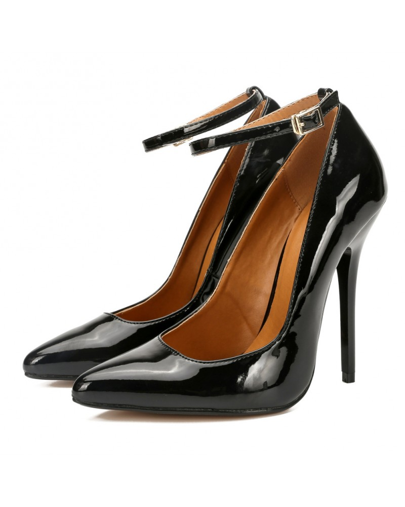 Sexy strappy high-heeled pumps