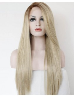 Synthetic straight long hair blond wig