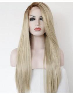 Synthétique perruque blonde longue