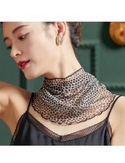 polka dot circles printed silk scarf