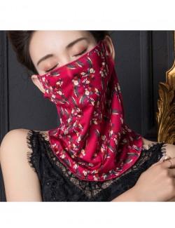 Crimson fashion print pattern ear-hanging scarf