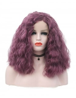 Synthetic half long curly wig
