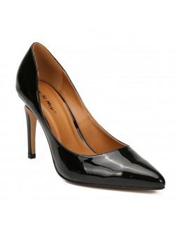 Middle heels pointy pump stilettos