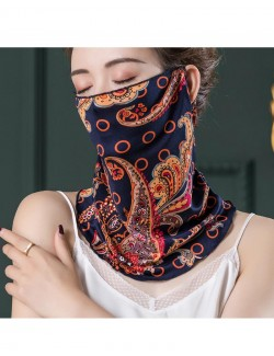 Noble court style pattern, ear-hanging, tube magic scarf, face mask