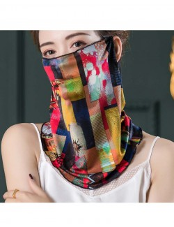 Colors puzzle pattern, ear-hanging, tube magic scarf, face mask
