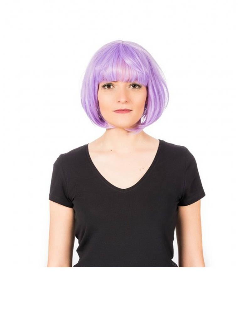 Purple short straight wig