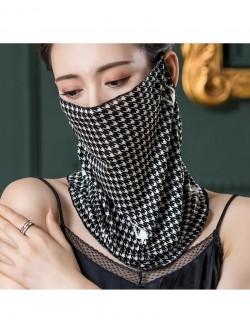 Bird grid pattern, ear-hanging, tube magic scarf, face mask