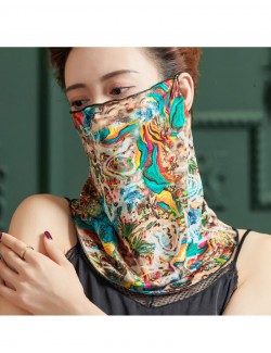 Dreamy abstract watercolor pattern, ear-hanging, tube magic scarf, face mask