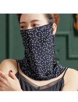 Black and white polka dot pattern, ear-hanging, tube magic scarf, face mask