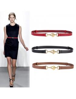 Latest trends women's skinny leather belt