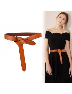 Women's knotted leather belt