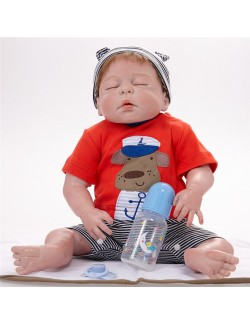 Cute silicone baby boy 21 inches washable doll