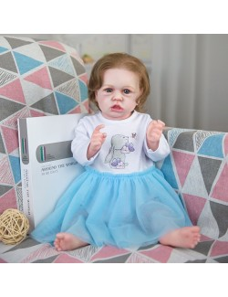 Cute silicone baby girl sitting posture