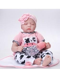 Cute silicone baby girl asleep