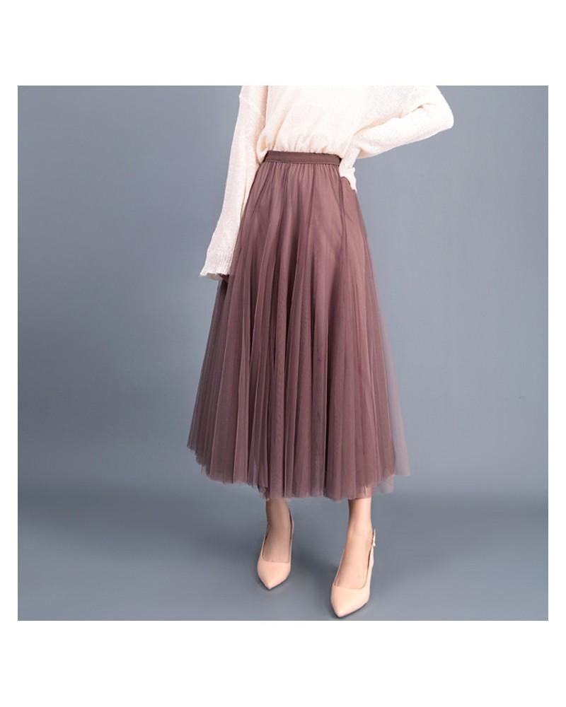 Cinnamon high waist tulle flowy fairy skirt