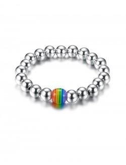 Steel bracelet rainbow element