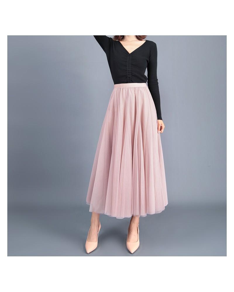 One size pink high waist tulle flowy fairy skirt