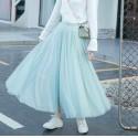 2021 Blue green tulle skirt