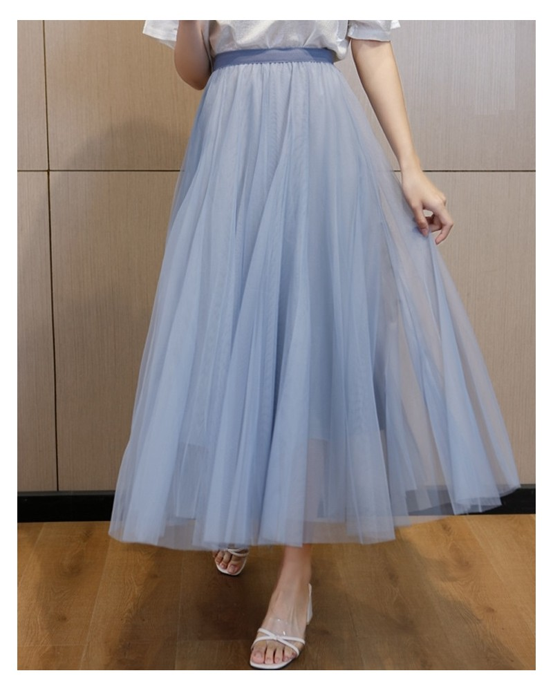 Sky blue tulle cool skirt for 2021
