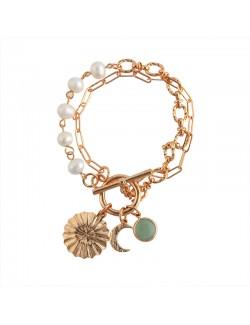 Luxury pearl pendant bracelet