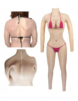 E/F/G Cup Silicone Breast Plate Bodysuit Vagina Prosthesis Penetrable
