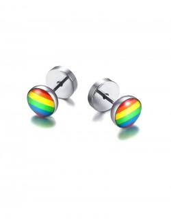 Boucles d'oreilles arc en ciel 2 coloris