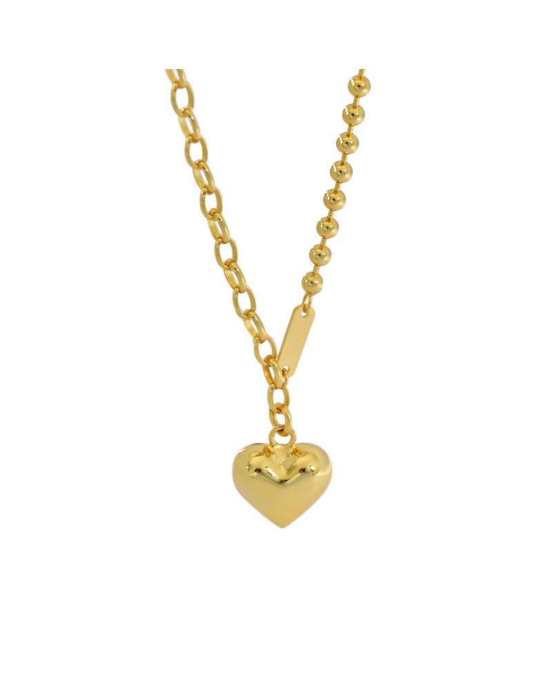 Necklace & heart pendant sterling silver gold-plated