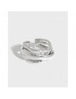 Styling aesthetic adjustable sterling silver ring