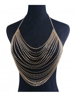 Choker body chain necklace synthetic crystal