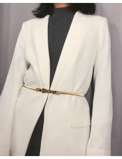 Goden metal belt bow tie