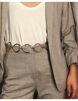Circle metal chain belt