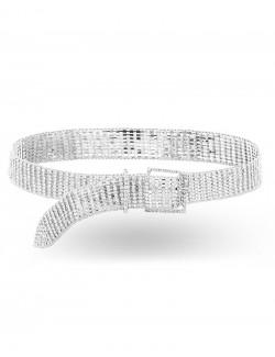Impressive belt synthetic rhinestone fancy jewelry