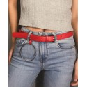 Leather belt with o ring