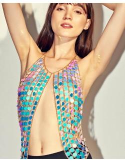 Chaîne de corps sexy en plexiglas coloré