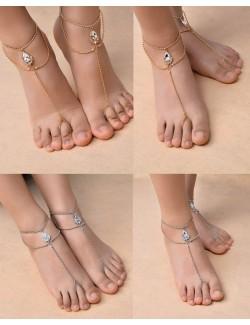 Bijoux en cristal de pied pièce unique