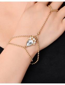 Bracelet bijoux pour la main cristaux synthétiques