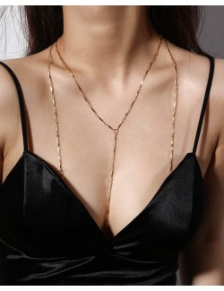 Body chain jewelry synthetic crystal