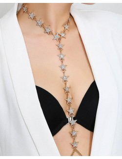 Body jewelry bikini chain synthetic crystal