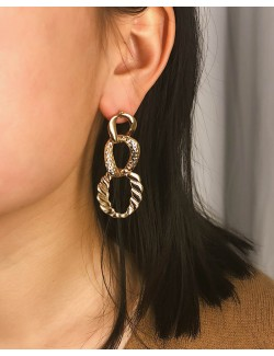 3 cercles metal earrings zinc alloy