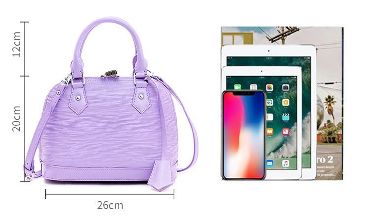 Size of handbag
