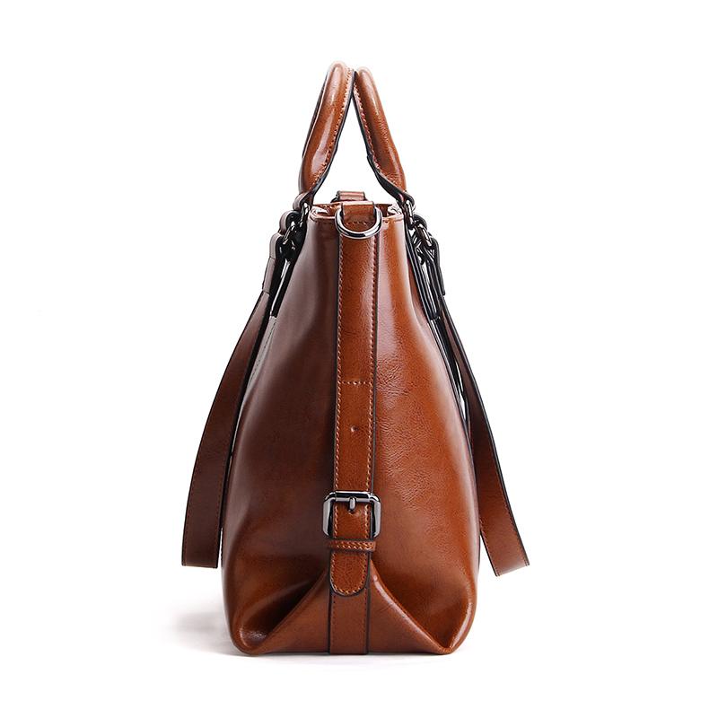 design women handbags daily bag cowhide oil waxed leather