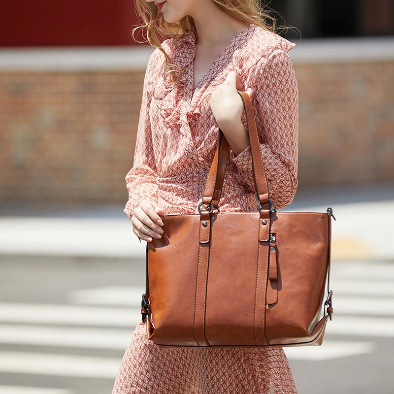 new design handbags oil waxed leather cheap