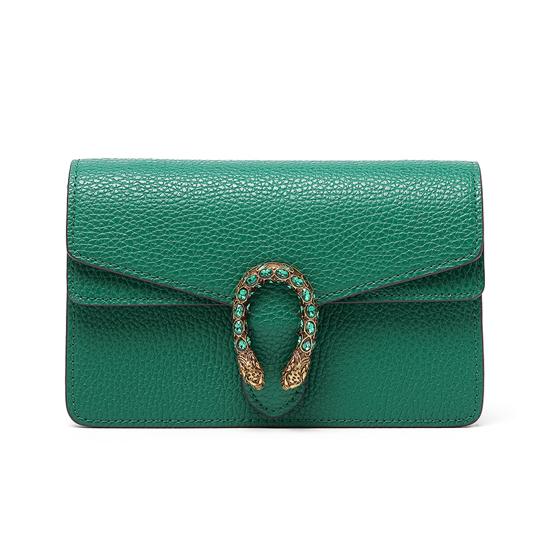 Emerald green bag leather handbags