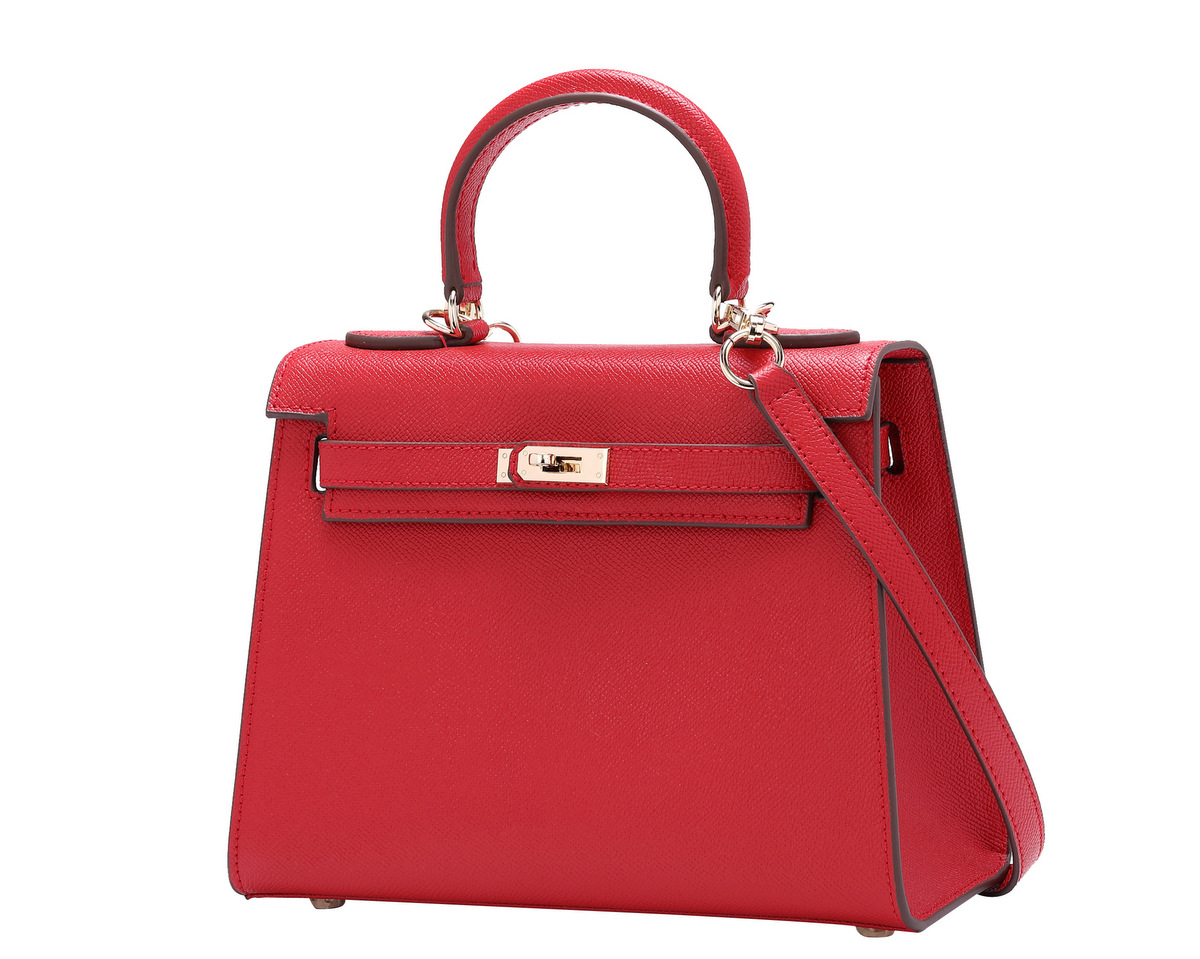Small female leather Kelly shoulder handbags