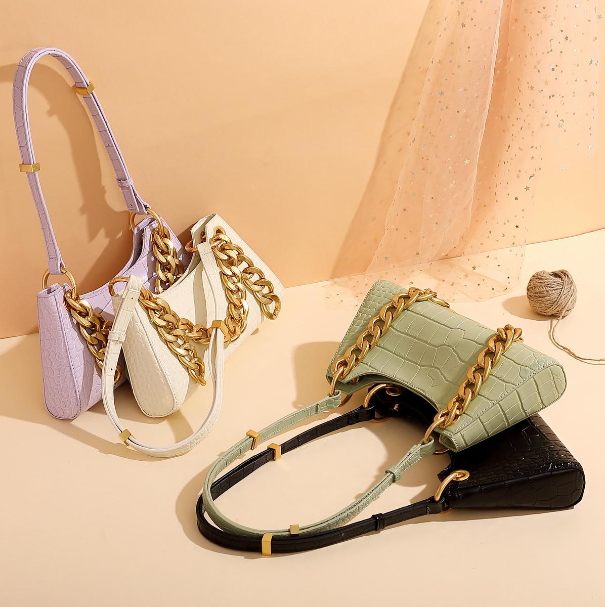 Trendy 2020 women handbag cowhide