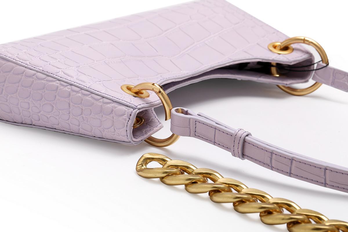 Trendy handbag cowhide gold chain